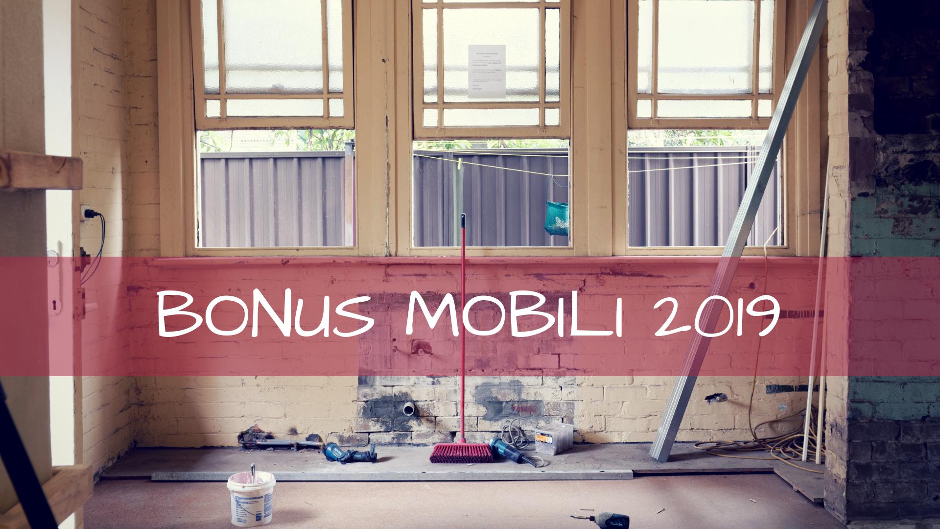 Casa in ristrutturazione_bonus mobili 2019