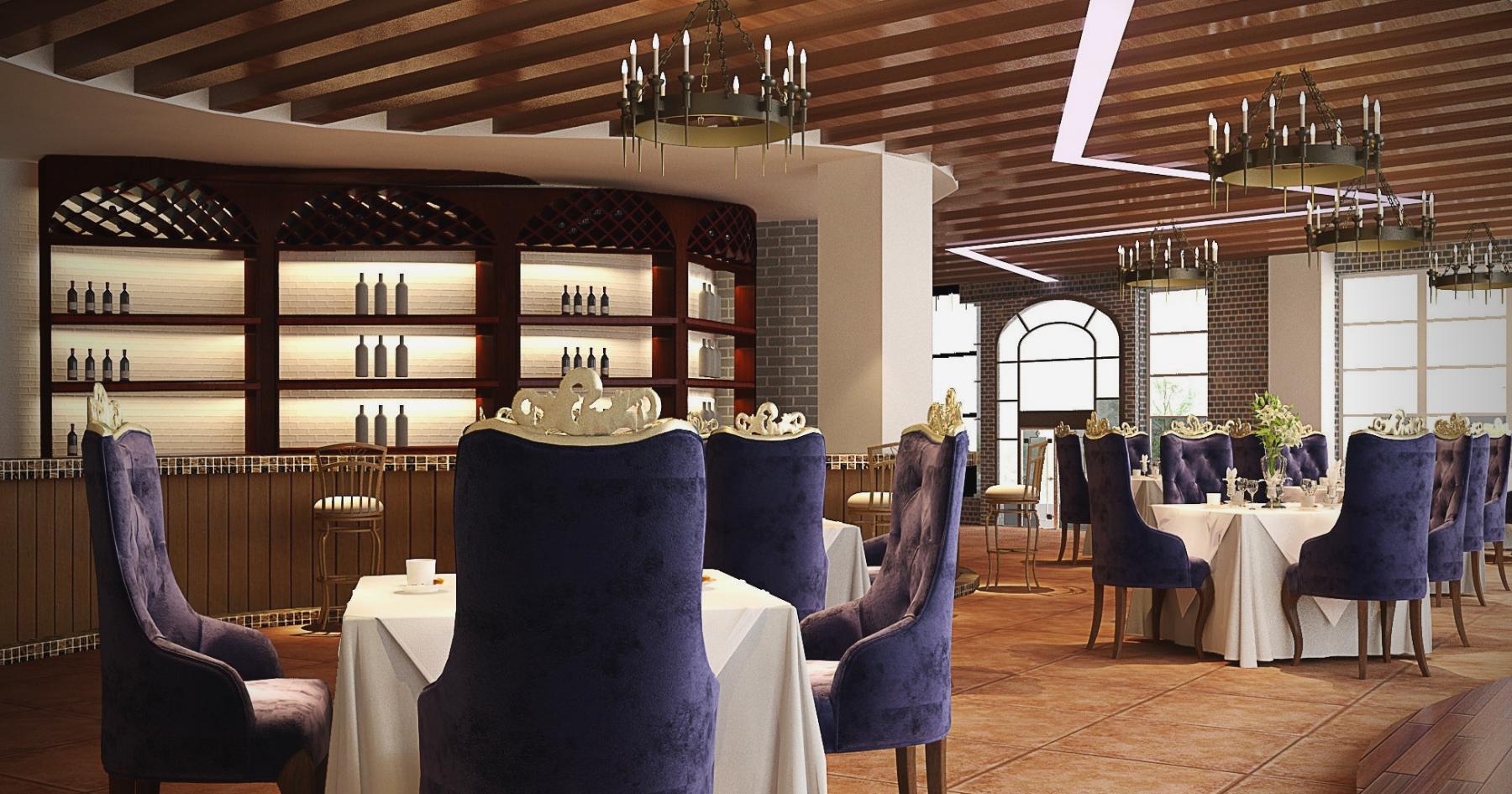 Proposta di arredamento ristorante elegante